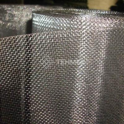 Сетка тканая нержавеющая проволочная с квадратными ячейками 0.5x0.25 мм 08Х18Н10Т ГОСТ 3826-82