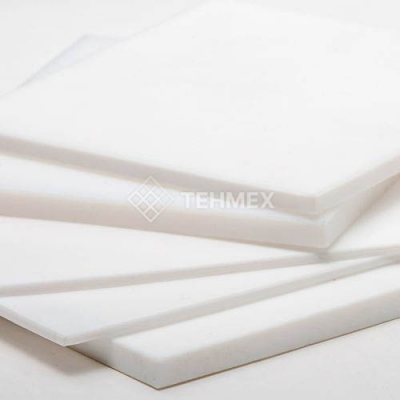 Поливинилдиенфторид пластина 40x300x300 мм TECAFLON PVDF