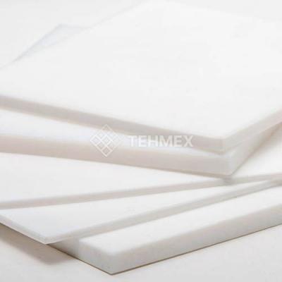 Поливинилдиенфторид пластина 40x500x500 мм TECAFLON PVDF