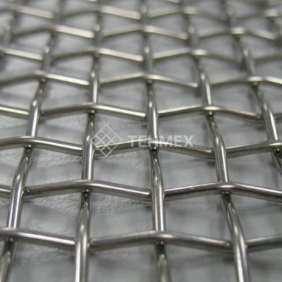 Сетка рифленая для грохотов 21x21x6 мм ГОСТ 3306-88