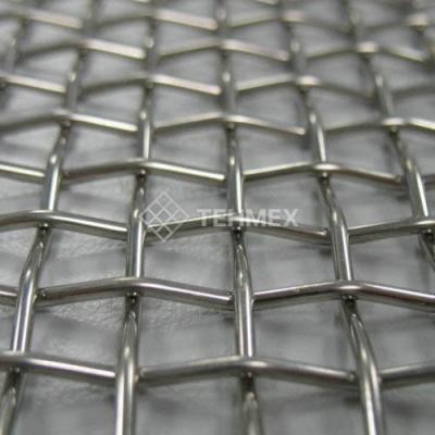 Сетка рифленая для грохотов 40x40x8 мм ГОСТ 3306-88