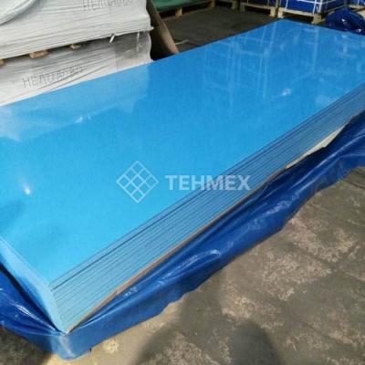 Листовой пищевой полипропилен синий с пленкой 5x1500x5000 мм