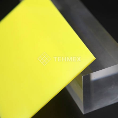 Лист ударопрочный полистирол желтый 1x2000x3000 мм