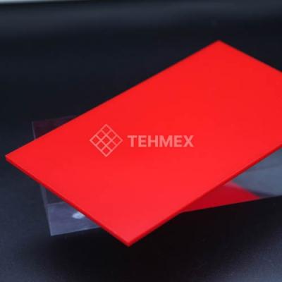 Лист ударопрочный полистирол красный 2x2000x3000 мм