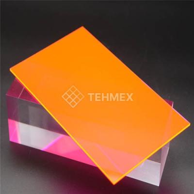 Лист ударопрочный полистирол оранжевый 2x2000x3000 мм