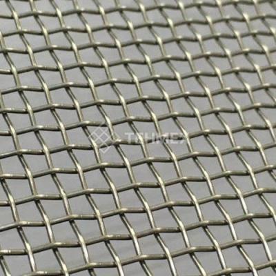 Сетка нихромовая тканая проволочная тканая с квадратными ячейками рифленая 5x2 мм Х20Н80  ГОСТ 3826-82