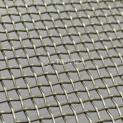 Сетка нихромовая тканая проволочная тканая с квадратными ячейками 9x2.2 мм Х20Н80  ГОСТ 3826-82
